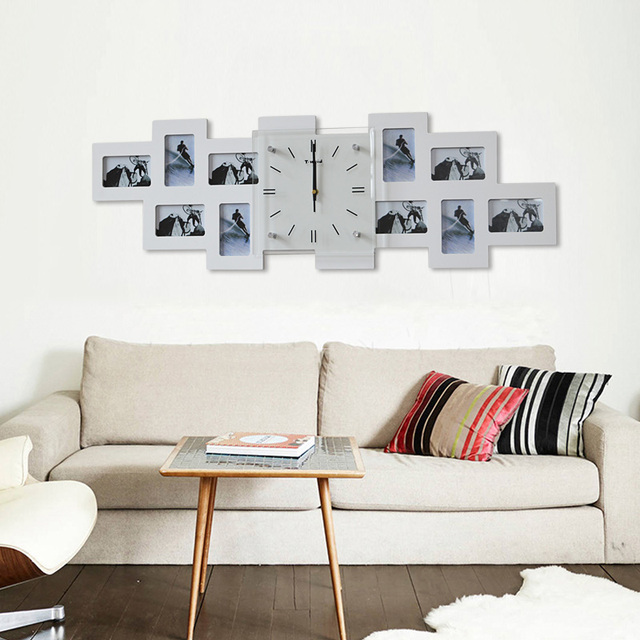 20 pulgadas Digital grande Reloj de pared de madera marco de fotos ...