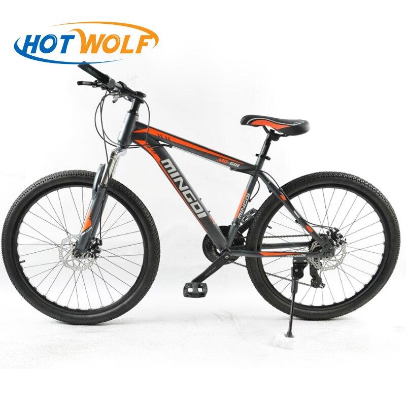 Montagne vélo 26 pouces en acier 24 vitesse vélo freins à double disque et variable vitesse route vélo fabricants en gros