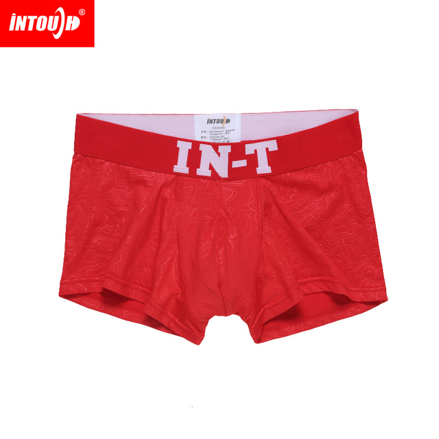 2015 New Intouch men's boxer underwear red panty  boxer shorts size M/L/XL