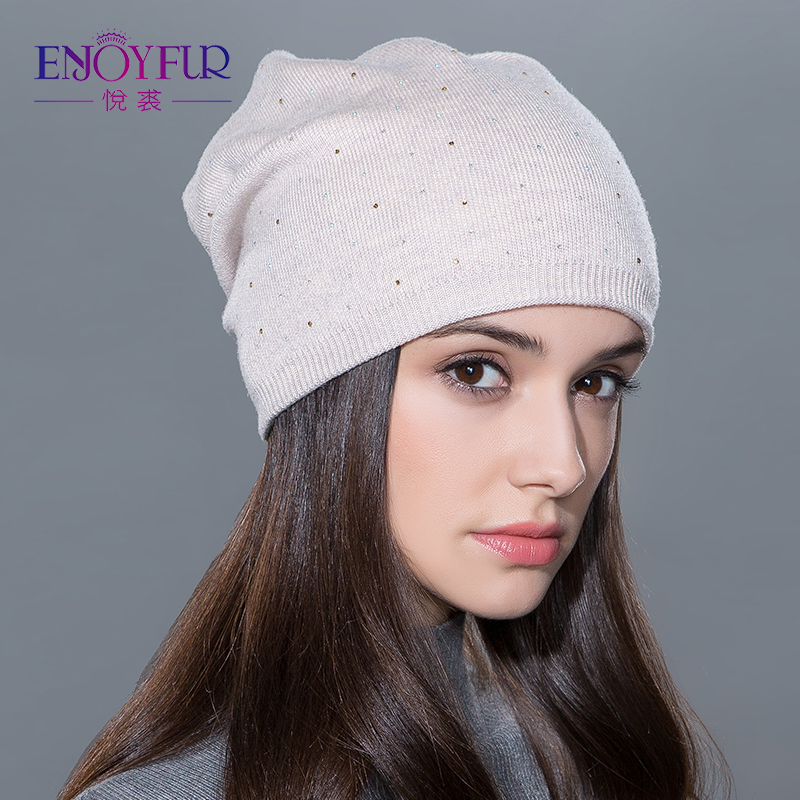 ccecd66af55 Women s winter hat knitted wool beanies female fashion skullies casual  outdoor ski caps thick warm hats for women-in Skullies   Beanies from  Apparel ...