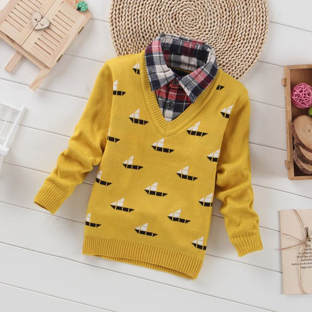 Children Sweaters Boys Knitted Sweater 2016 New Autumn Winter Pullover Sweater Kids Clothing