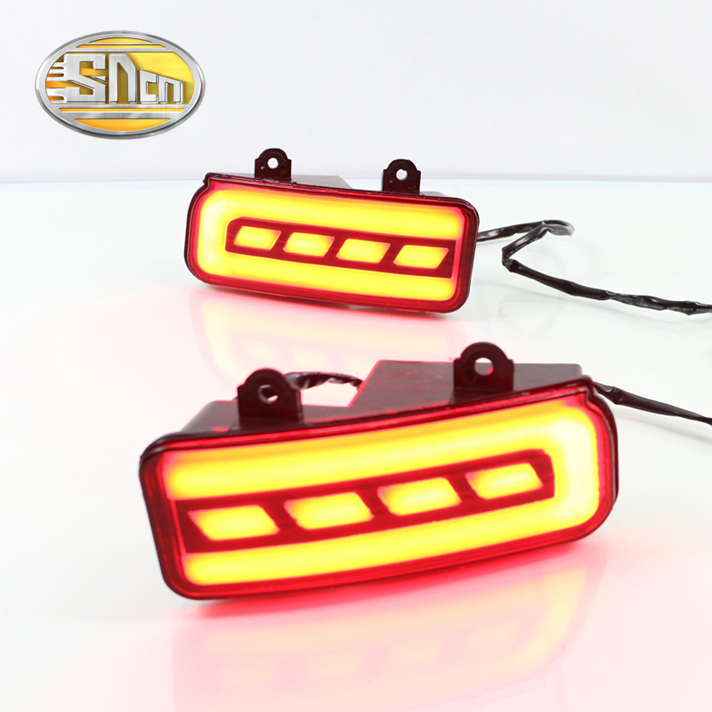 For Honda CRV CR-V 2012 - 2016 SNCN Multi-function Car LED Rear Fog Lamp Bumper Light Brake Light Turn Signal Light Reflector