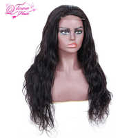 Queen Love Hair Brazilian Lace Frontal Human Hair Wigs Body Wave Natural Color Non-Remy Made By Bundles With 4*4 Lace Closure