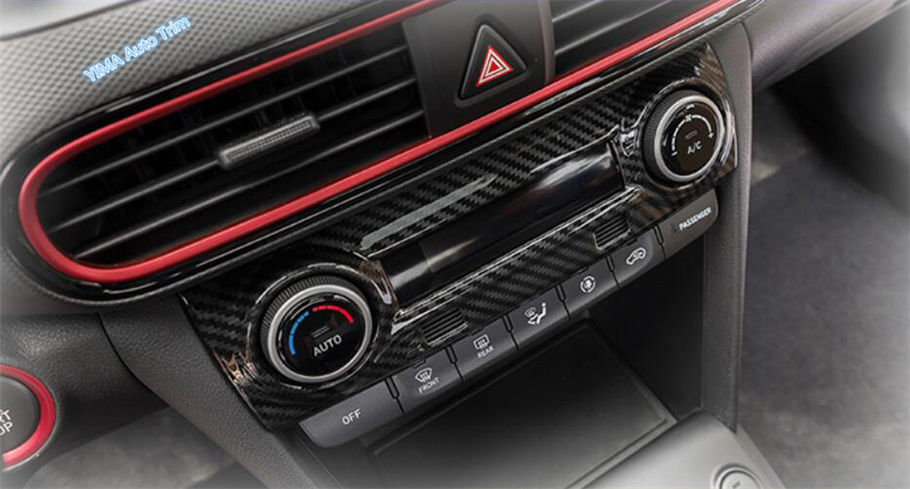 Carbon Look Inner Middle Air Vent Outlet Cover Trim für Hyundai Kona Encino