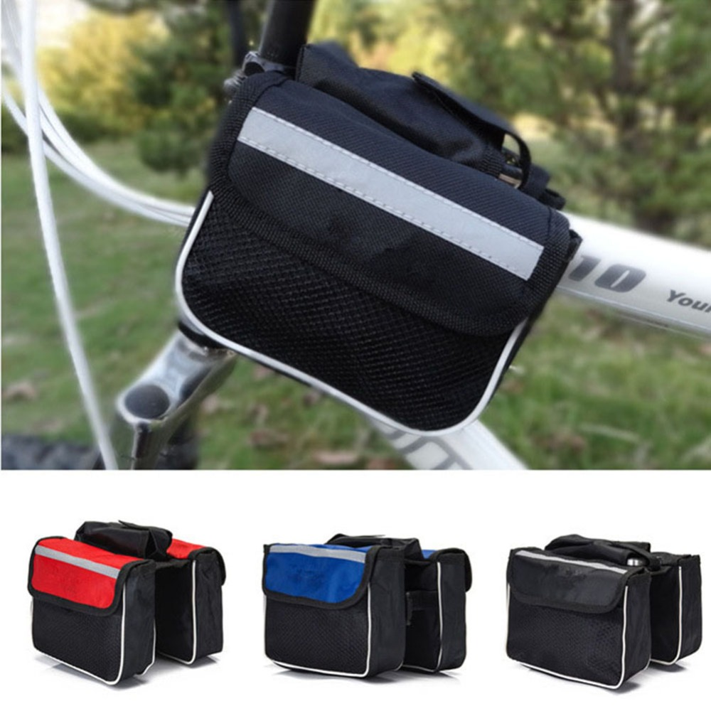 3 in 1 Cycling Bike Sport Bicycle Frame Pannier Front Tube Both-Side Cycle Bag
