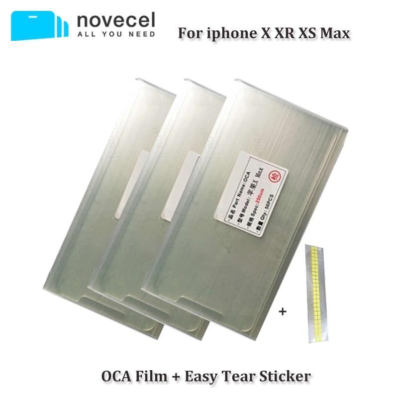 50pcs/Lot 250um OCA Optical Clear Adhesive for iPhone X XR XS Mac OCA Glue Touch Glass Lens Film