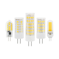 3W 5W 7W Dimmable G4 220V LED Light 2835 SMD COB LED Bulb for Crystal Chandelier Lamp Replace Halogen Spotlight