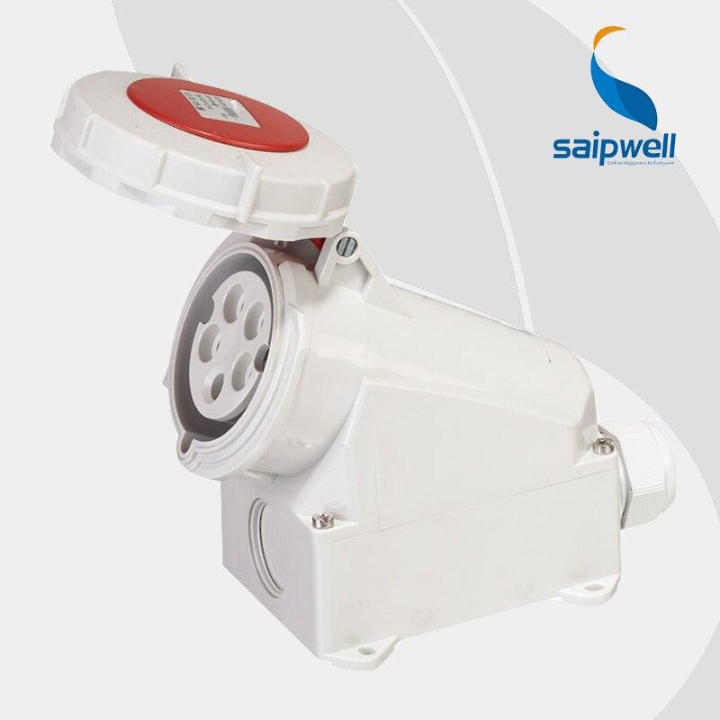32A 400 V 5 P (3 P + N + E) prise étanche femelle industrielle support mural étanche à l'eau/aux éclaboussures IP44 EN/IEC 60309-2 type SP1210