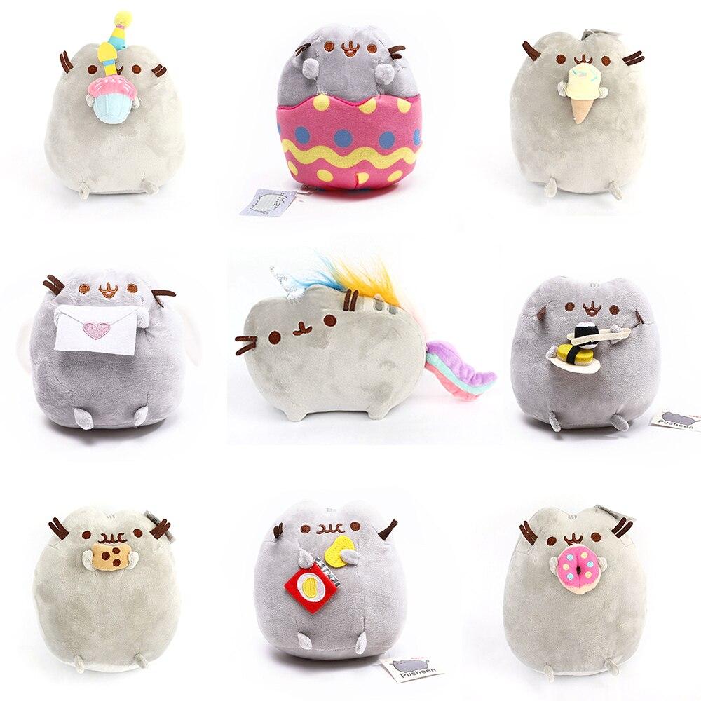 15cm/25cm Pusheen Cat Plush Toys Stuffed Animal Doll Animal Pillow Toy Pusheen Cat Gift For Kid Kawaii Cute Cushion