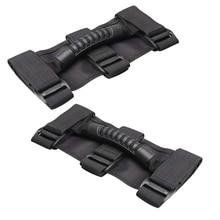 2Pieces Roll Bar Grab Handles Grib Hand Holder For Jeep Wrangler JK TJ YJ цены онлайн