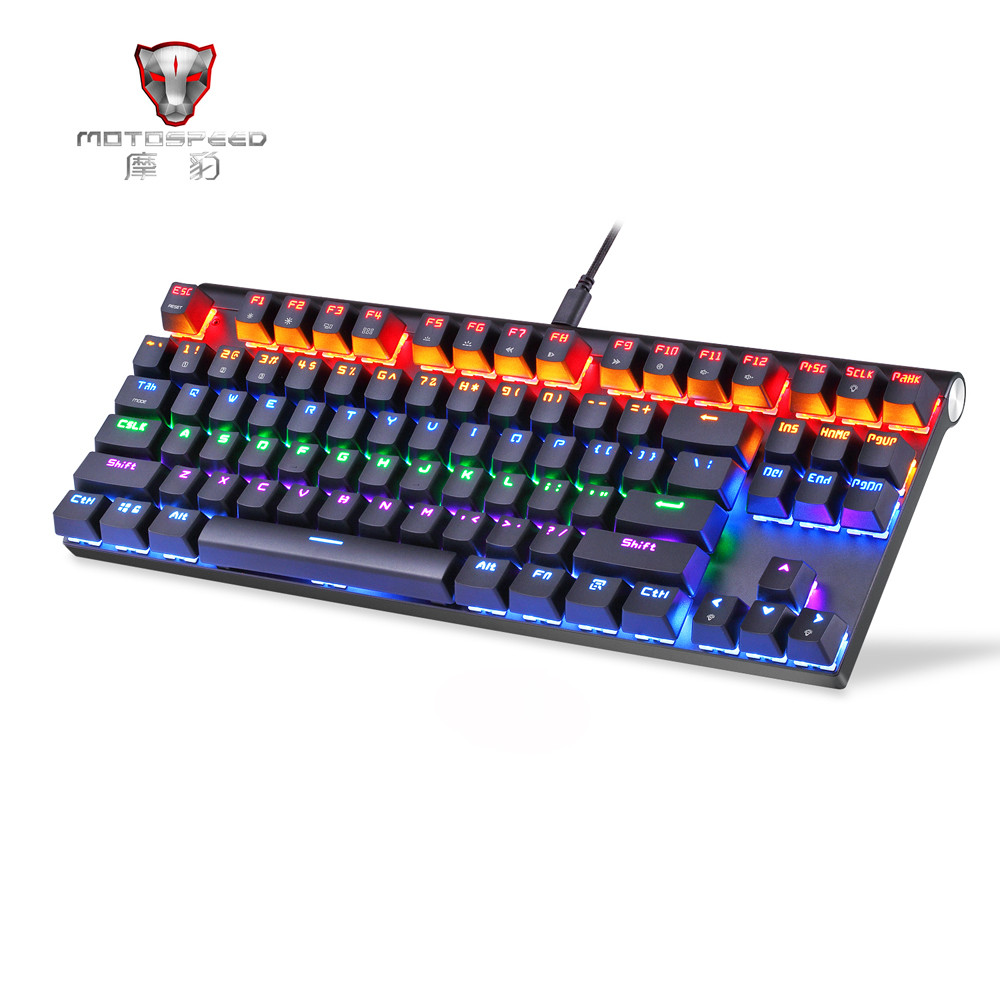 Motospeed K83 Wired Dual-Mode Mechanical Keyboard Gaming Keyboard Teclado Gamer Floating LED Backlit USB mechanical gaming keyboard motospeed k10 aluminium alloy top cover with bicolor injection keycaps keyboard gamer retail package