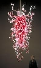 American Fashion Romantic Pink Chandelier Light Modern Design Hand Blown Murano Glass