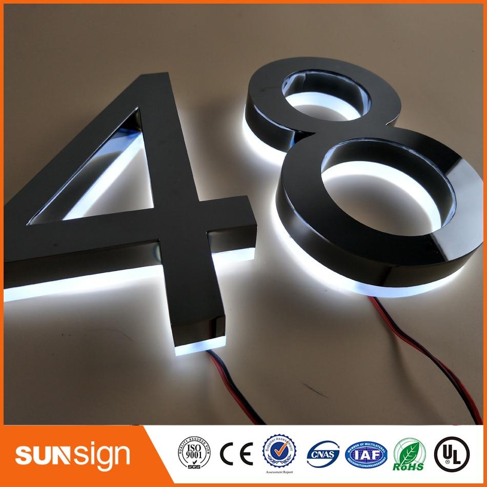 Wholesale Stainless Steel Illuminated Led Letter Custom 3d Signs