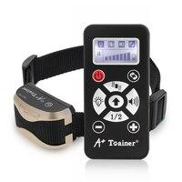 Electric Automatic Dog Trainer Collar Bark Train NO E Shock Flash Remote Control Dog Training Collar Pet Supplies Free Shipping
