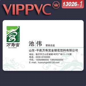 a13026 PVC personal business cards Template for Card Design single faced printing