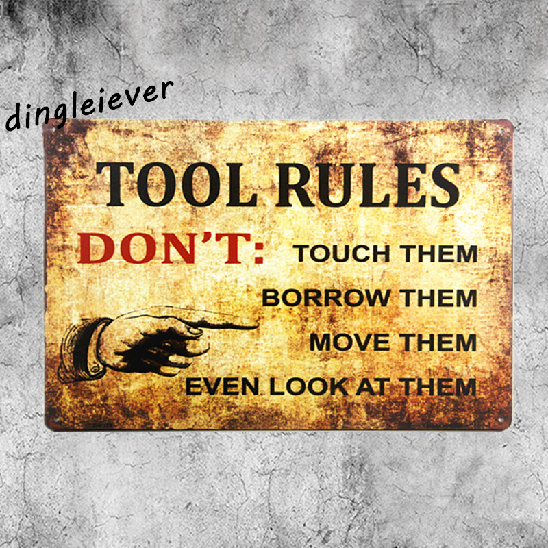 Tool Rules Don T Do This Vintage Metal Sign Spark Plug