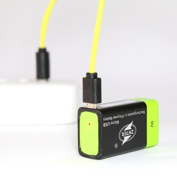 ZNTER Ultra-Efficient 9V 400mAh USB Rechargeable 9V Lithium Polymer Battery For RC Camera Drone Accessories 3