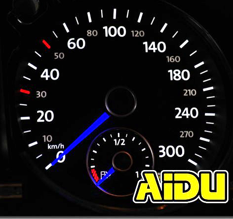 For VW Passat B7 CC GOLF MK6 Scirocco Jetta MK6 Tiguan 5N Touran Polo GTI Blue Color Instrument Cluster VDO Blue Needle Sweep