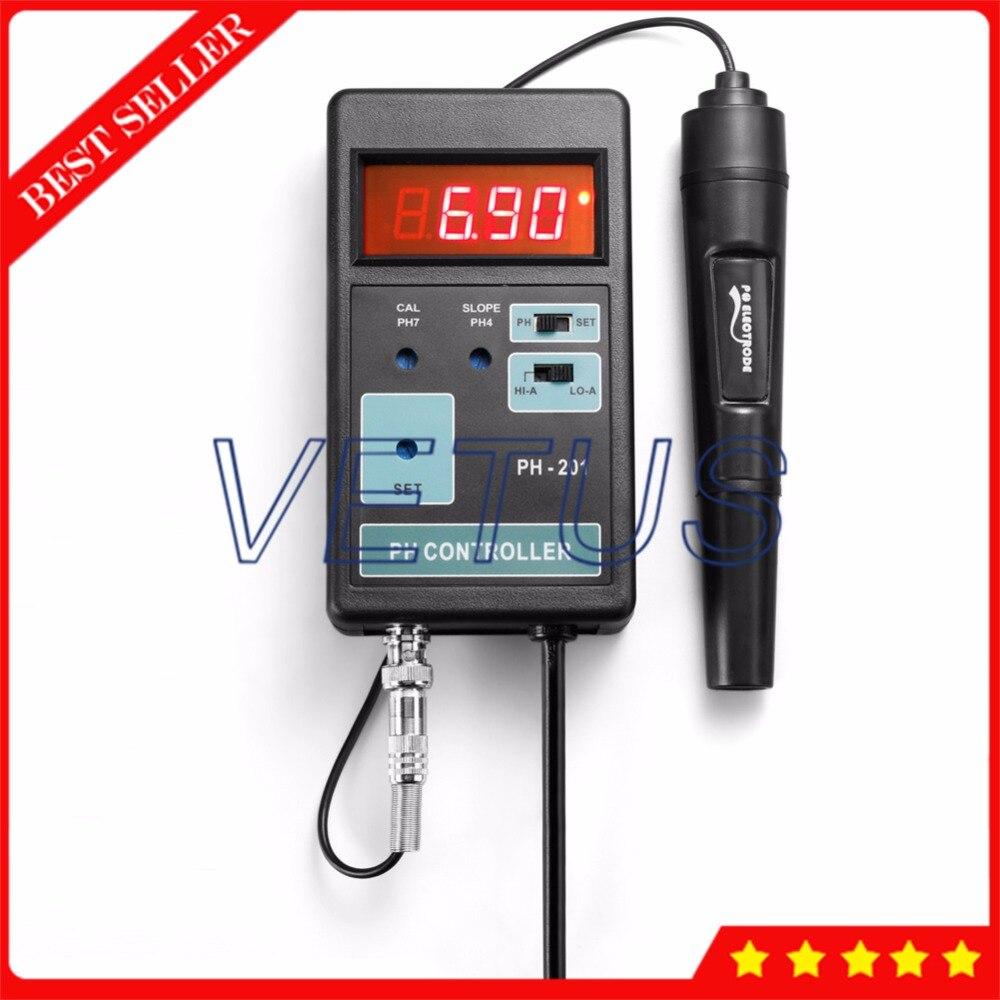 PH-201 Digital ph meter controller with alarm function 0.01PH Resolution PH Meter Price horizon ph 15 r
