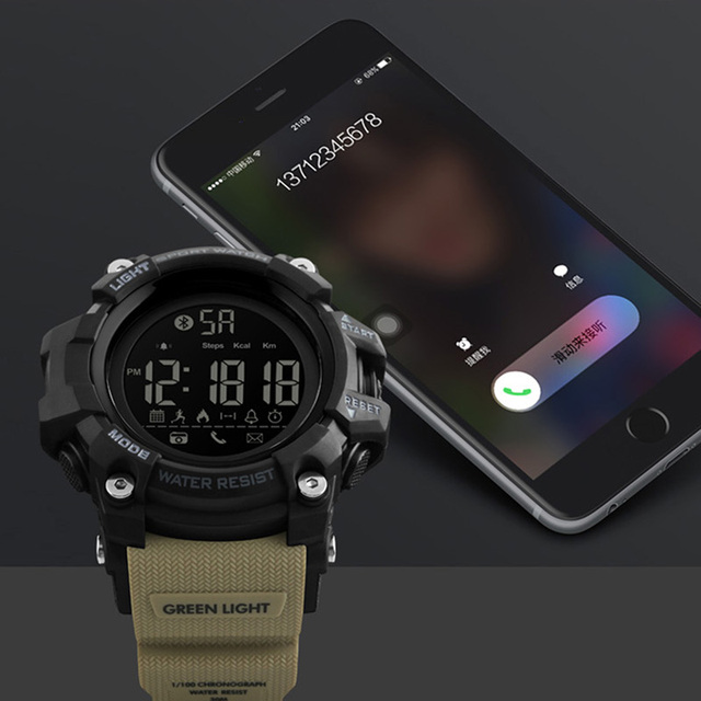 US $21 99 40% OFF|Smartwatch Pedometer APP Call Remind Smart Wristband  Sleeping Monitor Remote Camera Men Smart Watch For Android IOS SKMEI 2018  -in