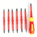 New 1 Set 7Pcs Electric Tools Insulated Electrical Single Head Hand Screwdriver Tools Magnetic Herramientas Electricas