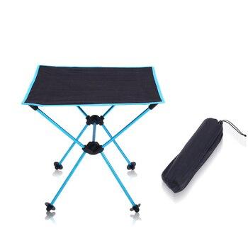 Açık Balıkçılık Katlanır kamp masası ile 600D Oxford kumaş 7075 Alüminyum Alaşımlı Masa Bahçe Kamp Plaj Seyahat Masa