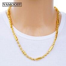 Collar de oro de 24 quilates con Eslabón cubano para hombre, cadena de eslabones, estilo rapero, boda, novio