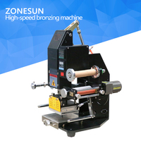 ZONESUN Pneumatic Automatic Hot Foil Stamping Machine Leather LOGO Creasing Machine LOGO Stamper Hot Words Machine