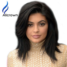 Alicrown Straight Wig Short Full Lace Wigs Human Hair With Baby Hair Brazilian Lace Front Human Hair Wigs For Black Women