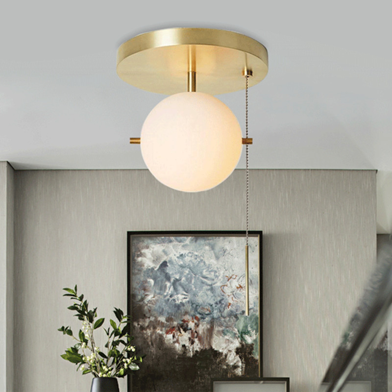 Nordic Simple Living Room LED Ceiling Lamp Creative Pull Switch Art Study Bedroom Bedside Aisle Lamps Free ShippingNordic Simple Living Room LED Ceiling Lamp Creative Pull Switch Art Study Bedroom Bedside Aisle Lamps Free Shipping