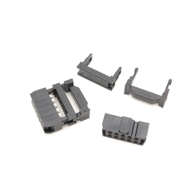 100pcs IDC FC-10 Connector 10 PIN Female Header 2.54 mm