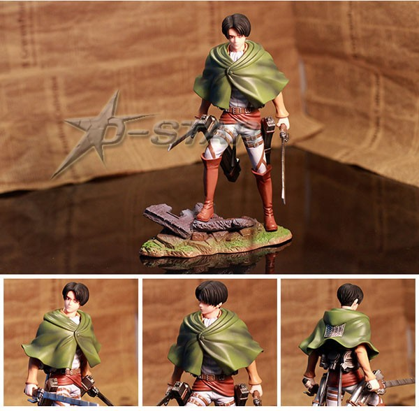 EMS Shipping 6pcs Cool 8 Attack on Titan Shingeki no Kyojin Scouting Legion Levi PVC Action Figure Model Collection Toy Gift 25cm levi ackerman rivaille li weier soldiers attack on titan trunk standing battle edition pvc action figure model toys