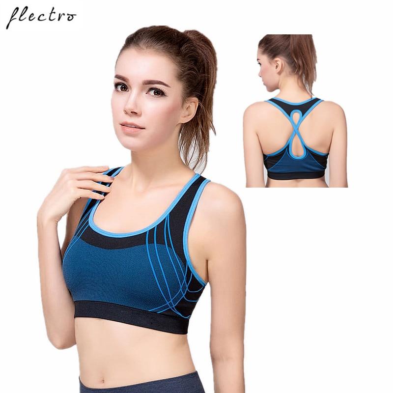 Sports Bra Yoga Running Fitness Top Tanks Seamless Shockproof Gym Women Quick Dry Sports Bra L356 chic u neck leopard print women s sports bra