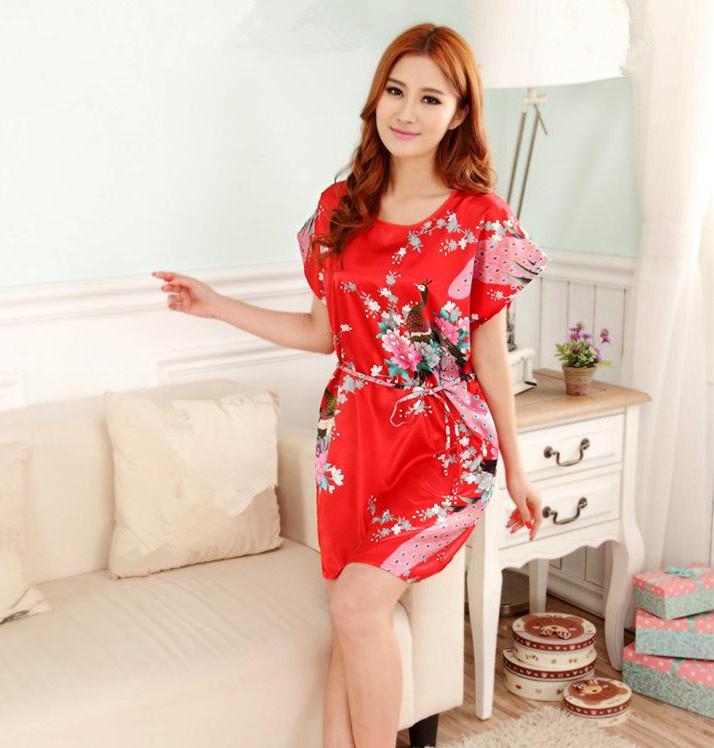 Plus-Size-Women-s-Faux-Silk-Robe-Bath-Gown-Nightgown-Light-Blue-Sexy-Summer-Sleepshirts-New (4)