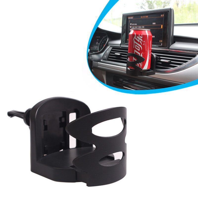 Dual Use Car Cup Holder For Dashboard Air Vent ABS Material Universal Vehicle Truck Adjustable Car Vent Drink Cup Mount Holder