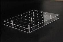 1 Set Rectangular 42 Holes Lollipop Holder Cake Pop Display Stand Acrylic Board Base Shelf
