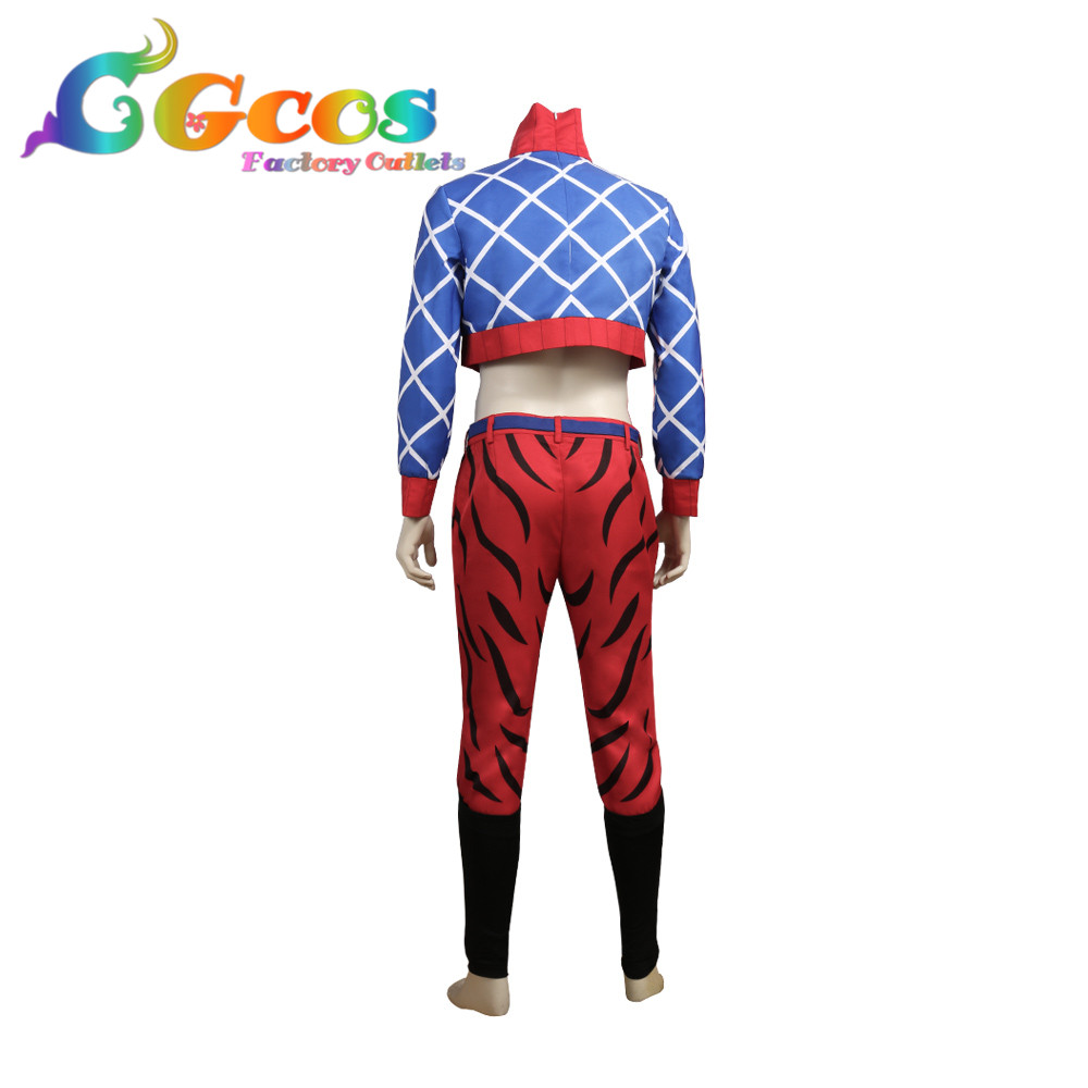Golden Wind Guido Mista Cosplay Costume Uniform Suit JoJo/'s Bizarre Adventure