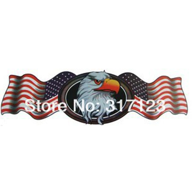 (40PCS/LOT ) Wholesale Big size 40cm America / USA Eagle Stickers for Car Motorcycle Wall Personalized stickers car styling