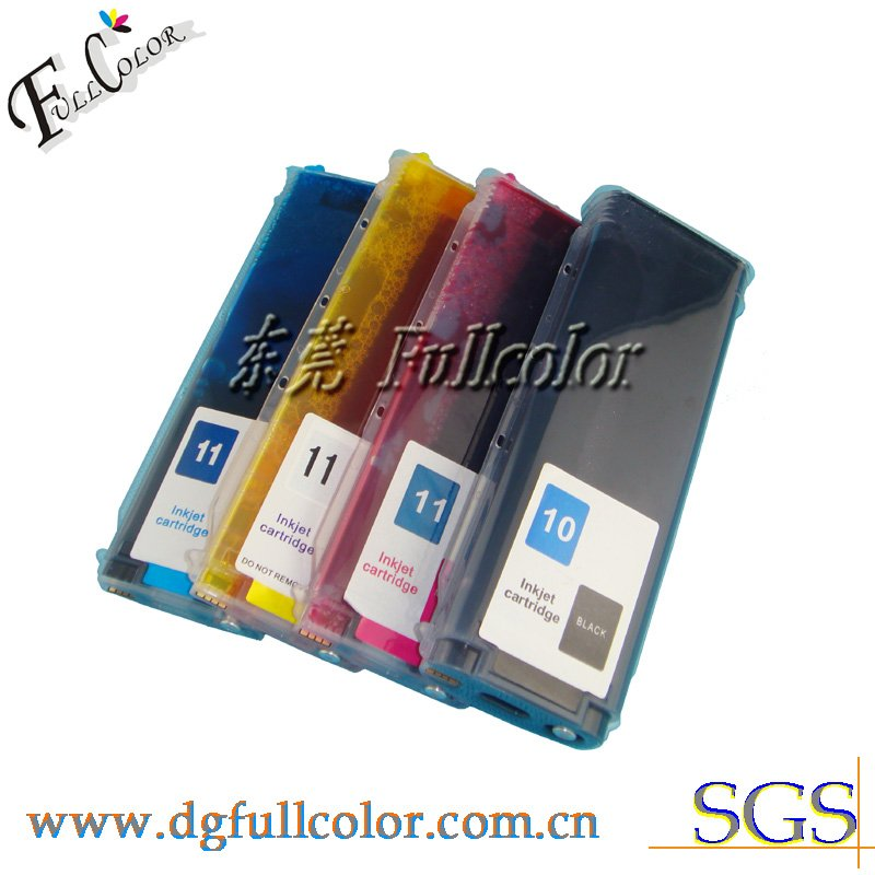 Free shipping Long refillable ink cartridge compatible for DJ110 with ink and chip free shipping hot sell compatible ciss ink system hp85 ink cartridge with dye ink