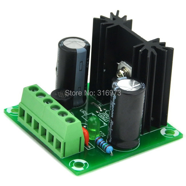 5V DC Positive Voltage Regulator Module Board, Based On 7805