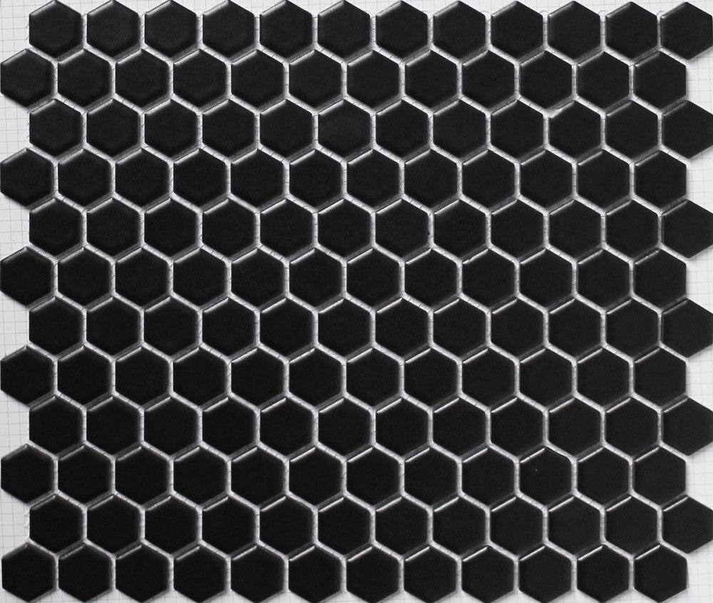 1 White Matte Hexagon Floor Tiles