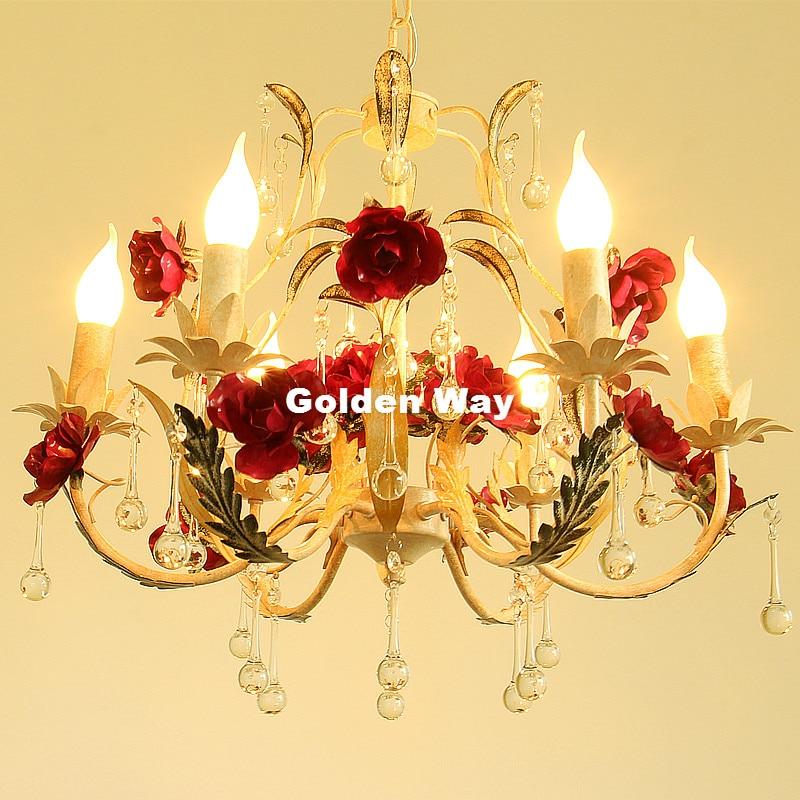 Современная декоративная Цветочная люстра лампа блеск света 6L Роза люстра в виде цветка светильник E14 светодиодный украшения дома люстра