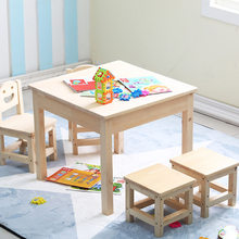 Children Furniture Sets 1 desk+2 chairs 2 stools sets solid wood kids Furniture sets kids chairs ottomans and study table sets(China)