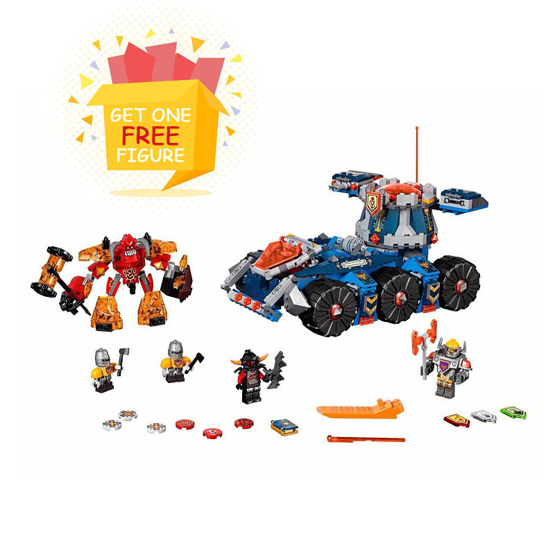 Bela Pogo Compatible Legoe 70322 10520 Nexus Knights Future Tower Defense Tank Building Blocks Bricks toys for children lepin 14004 knights beast master chaos chariot building bricks blocks set kids toys compatible 70314 nexus knights 334pcs set