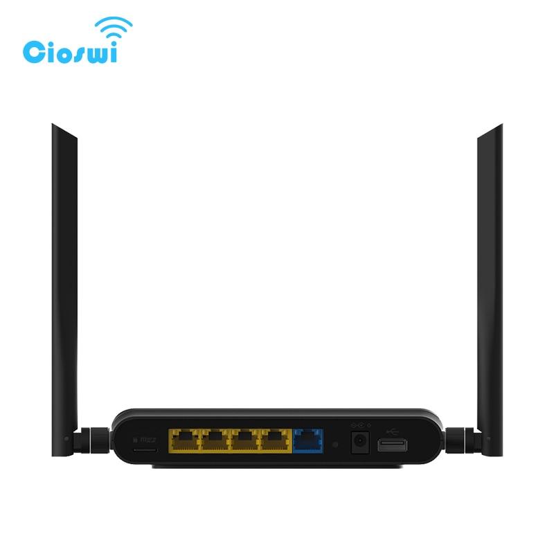4 Ports LAN 11AC routeur Wi Fi 1167 Mbps 2.4G/5 GHz répéteur WiFi double bande avec Port USB pour le partage