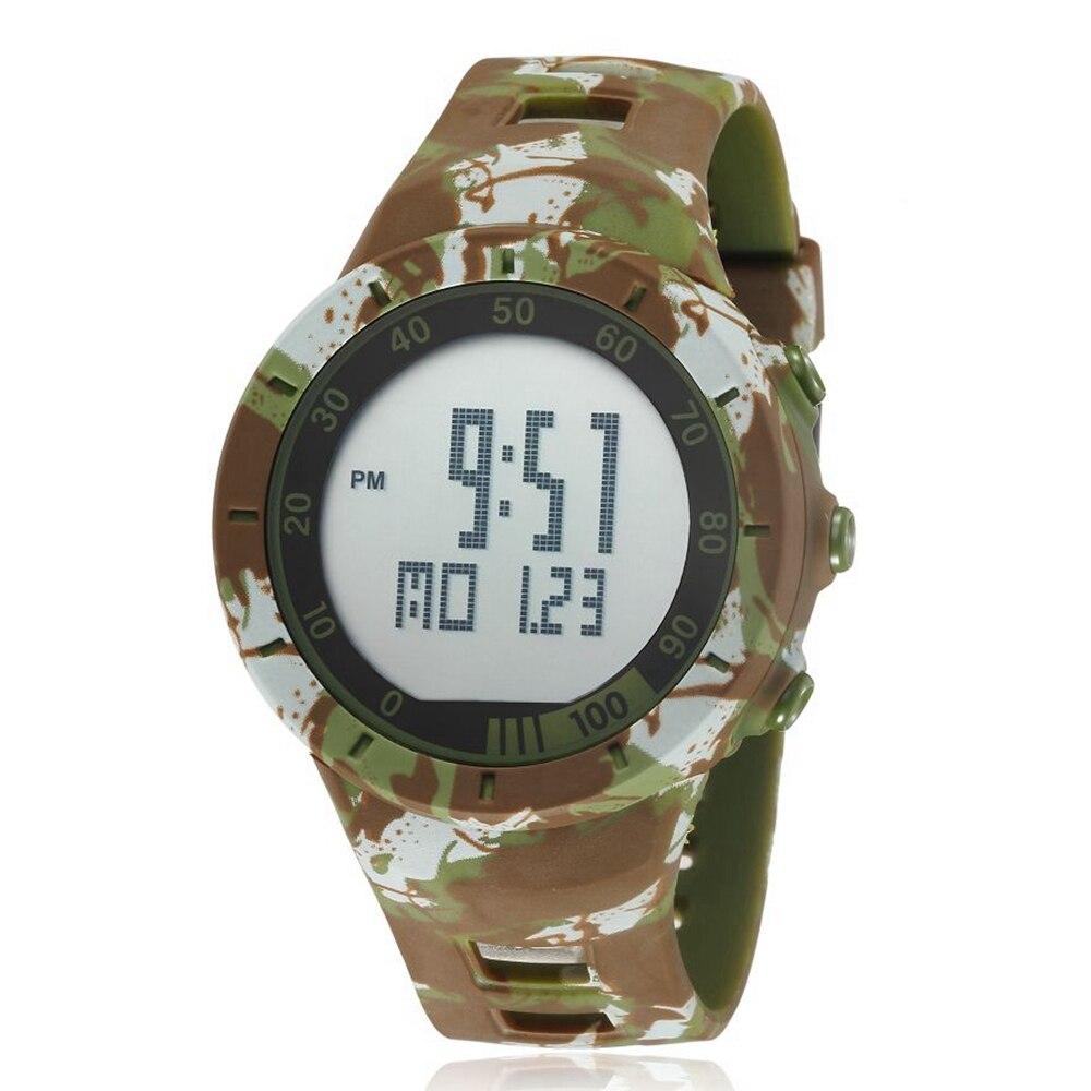 OHSEN Fashion Digital Man Women Lovers' Wristwatch Military Green Rubber Strap Alarm Date LCD 50M Swim Sports Couple Watch Gifts