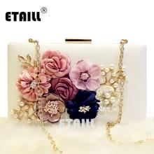 2016 pearl flower bag day clutch bridal female small banquet chain cross-body