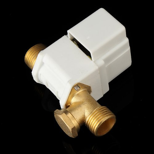 DC 12V 1//2 Male Threaded Normally Closed Electric Solenoid Valve Quick Connect for Solar Water Heater