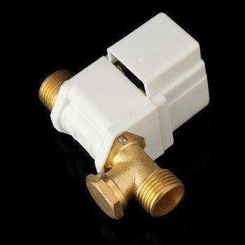 """1 sztuk G1/2 """"elektryczny zawór elektromagnetyczny 220 V dla solarny podgrzewacz wody lub wody w płynie normalnie zamknięty miedziany filtr głowy"""