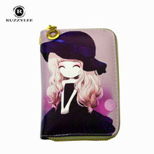Character Mini Woman Wallet Women Purses And Wallets Women's Purse Leather Clutch Female 2016 New Zipper Top Ladies Carteira